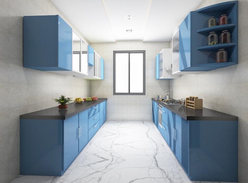 Кухня в две линии