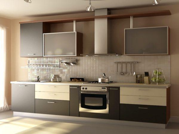 кухня кофейного цвета