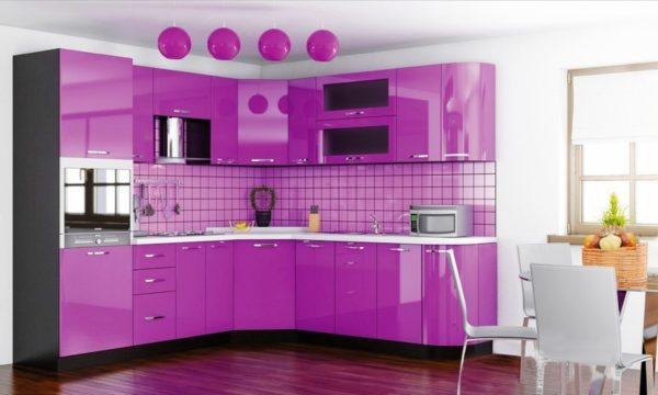 розовая кухня на заказ