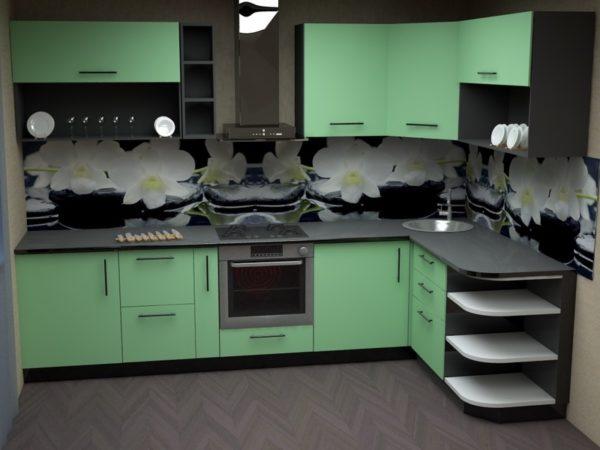 угловая кухня из МДФ