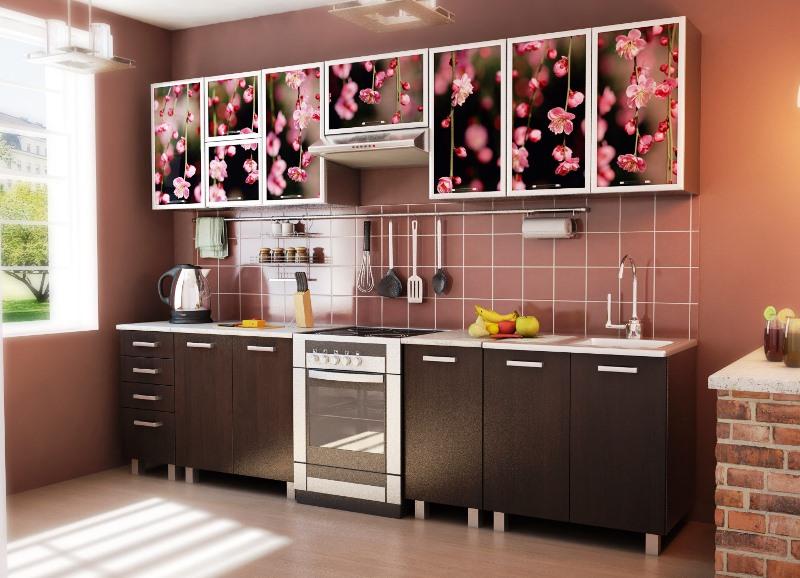 кухня с фотопечатью на фасадах