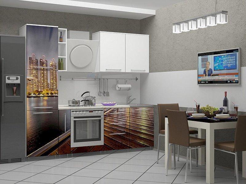 кухня с фотопечатью недорого