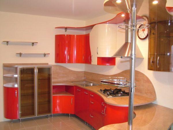 необычный кухонный гарнитур