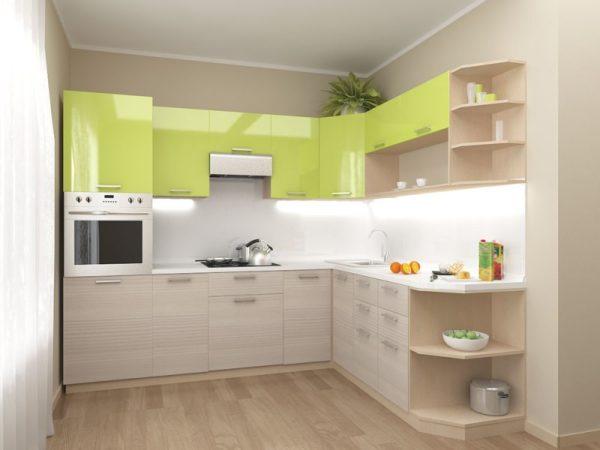 угловая кухня из пластика