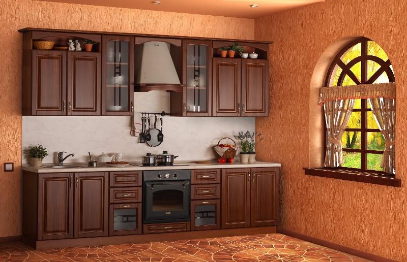 темная кухня под массив