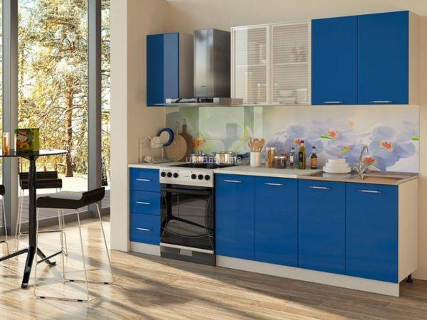 синяя кухня на заказ