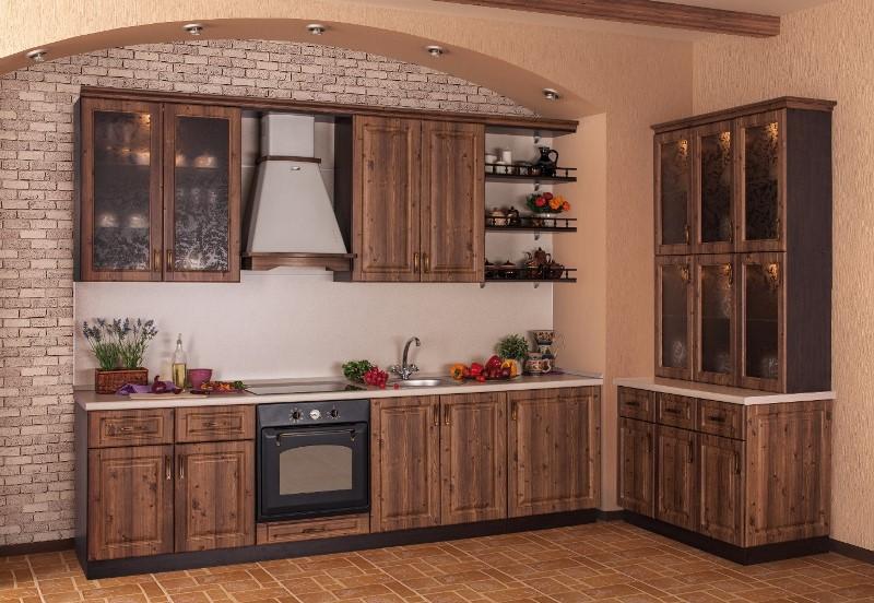 красивая кухня под массив