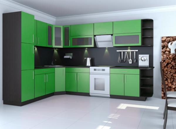 зеленая кухня лдсп